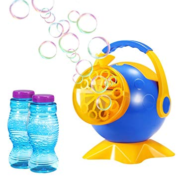 Bubble Machine, Geekper Automatic Bubble Blower Durable Bubble Maker with 2 Bottles of Bubbles Solution Refill, Over 800 Colorful Bubbles Per Minute Use
