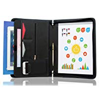 Interview Resume Document Organizer. Internal Holders For iPad Tablet up to 10.1 in, Phone