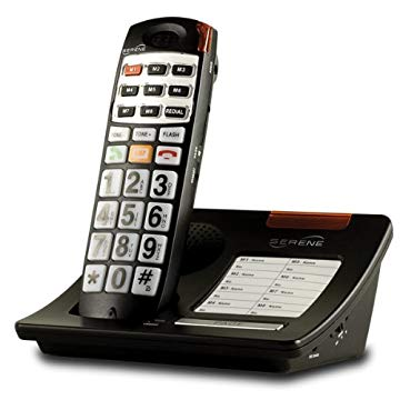 Serene HD 40dB Amplified Talking Cordless Phone for Elderly