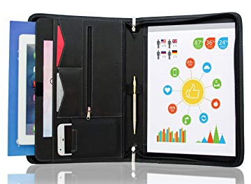 Top padfolio with tablet holder for students