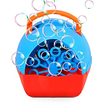 Theefun Bubble Machine for Kids, Automatic Bubble Blower Durable Bubble Maker, USB or Battery Operated, Over 500 Bubbles Per Minute for Outdoor or Indoor Use